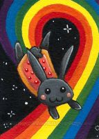 Nyan Cat - er - Bunny by sobeyondthis