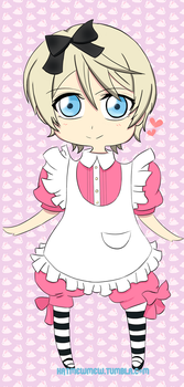 Chibi Alois in wonderland by Katmewmew