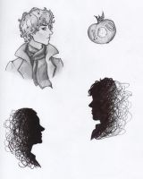 Sherlock doodles by gold-blonde