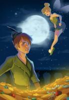 Peter Pan and Tinker Bell by LucidOrange