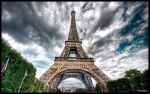 Paris - Eiffel Tower IV WP by superjuju29