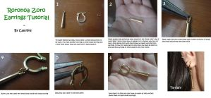 TUTORIAL - Roronoa Zoro Earrings by Camilicks