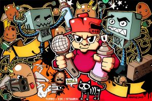 B-boy Robots with Turbo -color by Turbo-S2K