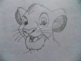 Simba Disney drawing by chloesmith8