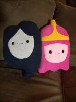 Marceline and Princess Bubblegum Pillow by CynicalSniper
