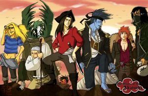 Pirates of the Akatsuki by hanshee