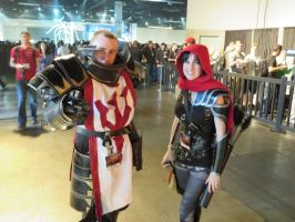 Cosplayers: Crusader and Demon Hunter by LanceOmikron