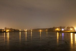 Foggy Lake Night by botskey