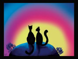 cats on the top of the world by fiamen