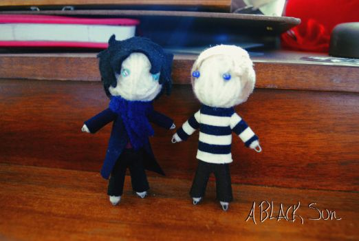 John and Sherlock Voodoo Dolls Just Hanging Out by ABlackSun