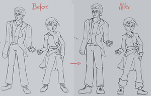 Lineart/Body Proportion Improvement by Divin-Almasy