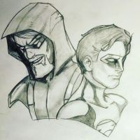 Green Arrow and Green Lantern by kennf11