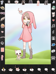 Chibi Me Dress Up Game UI by tiwummbihaou