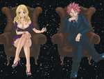Lucy and Natsu Elegance by Narusailor