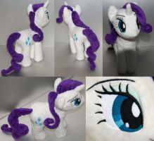 Rarity Plushie- Alt Views by AmberFossil