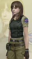 Rebecca Chambers as BSAA Agent by xx-Hime-sama-xx
