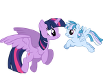A Mother and daughter flight by JeweledFaith