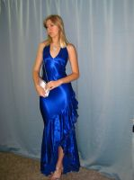 Elegant Blue Dress 23 by Danika-Stock