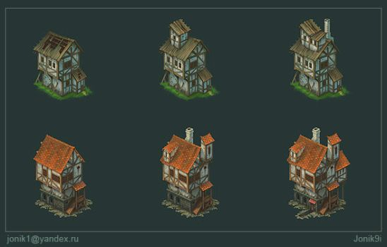 Buildings for game. Part 2 by Jonik9i