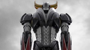 Grendizer - Goldrake 3D modelV3 - back view by Zer013