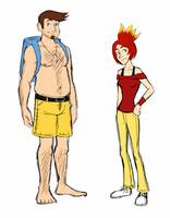 Human Banjo and Kazooie by smashsweetie
