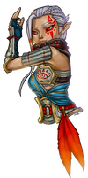 For Me It Was Game Portrait Tuesday 03: Impa by MandarinSwift