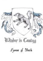 House of Stark - Coat of Arms by GisaPizzatto