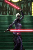 ventress battle piece 1 by vic55b