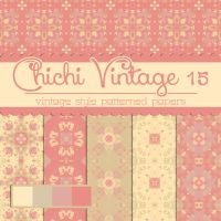Free Chichi Vintage 15 Patterned Papers by TeacherYanie