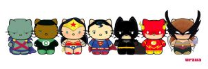 Justice League Kittens by rancid1881