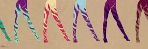 Tights+Stockings Designs: I'm Coming to Get You by SapphireKat