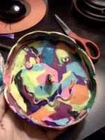Psychedelic Smiley Ashtray by Spaz-Twitch11-15-10