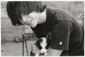 ryan and puppy by LOVEly--