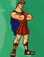 Hercules Standing Completed by Writer-Colorer