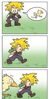 FFVII Catching a Chocobo by SandikaRakhim