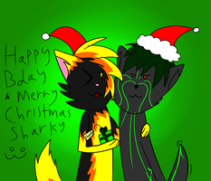 Happy Bday And Merry Christmas Sharky by Rexart35