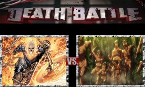 Death Battle Ideas 157 Ghost Rider VS Titans by kouliousis