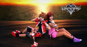 Sora and Kairi by SakuraCherry7