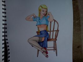 Blonde Pinup girl by Samaelt666
