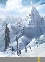 Winter Mountains by Concept-Art-House