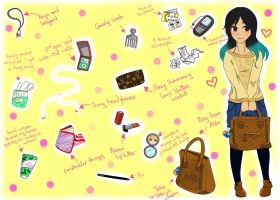 What's in my Bag Meme! by Melody-in-the-Air