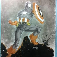 Capitain America commission by danielhdr