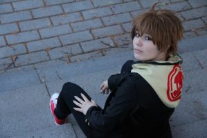 Dangan ronpa cosplay: Naegi by BlueKoiFish