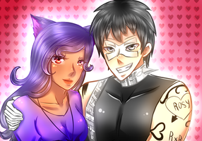 Request: Rosy And Human Ragnarok by AliceYume88