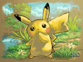 A Wild Pikachu Appeared by AriaSnow
