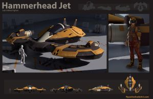 Hammerhead Jet and Pilot by GloriousRyan