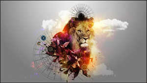 Abstract Lion - 1920 x 1080 Wallpaper by Gwynbleidd93