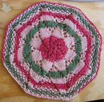 Double Flower Dishcloth by woozalia