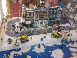 Lego Christmas Town 1 by thereanimatedunknown