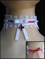 nurse choker with gepyr lace by trich